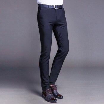 Cotton Classic Business Mens Suit Pants