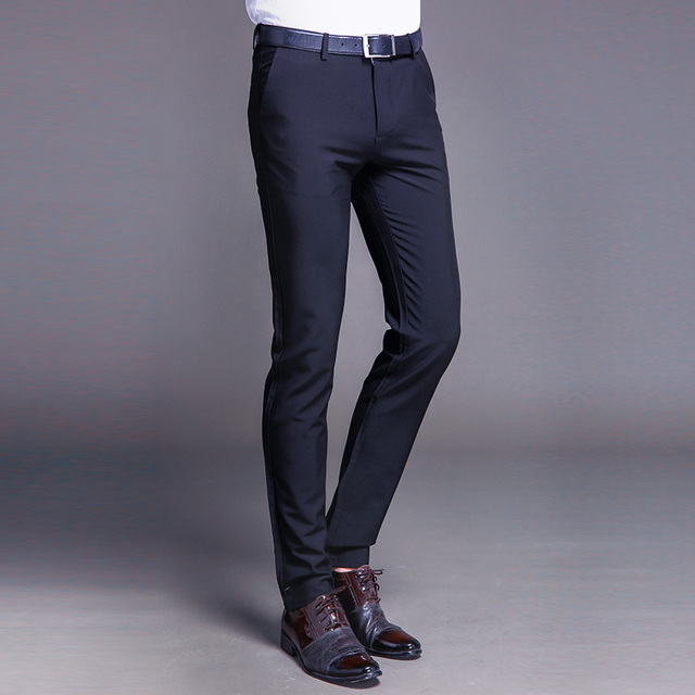 Fashion New High Quality Cotton Men Pants Straight Spring and Summer Long Male Classic Business Casual Trousers Full Length Mid 60