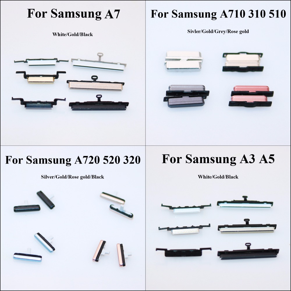 ChengHaoRan 1pcs OEM Side Keys Power And Volume Buttons For Samsung Galaxy A7 A3 A5 A710 310 510 A720 520 320