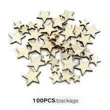 Пуговицы для украшения DIY ручной работы деревянные звезды подарки украшения Скрапбукинг ручной работы граффити поставки легкий вес размеры смешивания