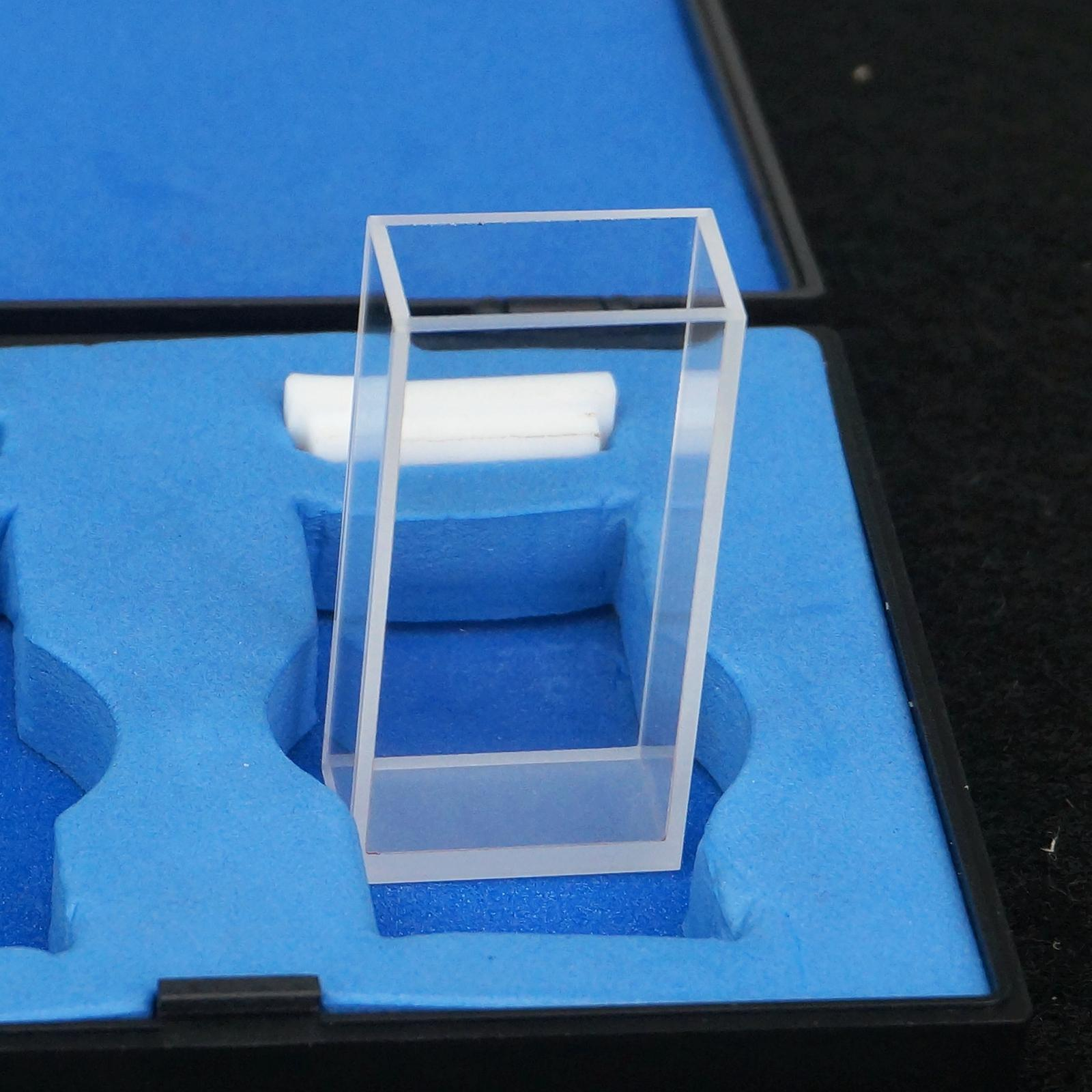 20mm Path Length JGS1 Quartz Cuvette Cell With Telfon Lid For Uv Spectrophotometers ...