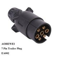 12 v  7 Pin  way core pole Plastic Trailer Plug socket adapter connector European   RV Caravan car accessories camp auto parts