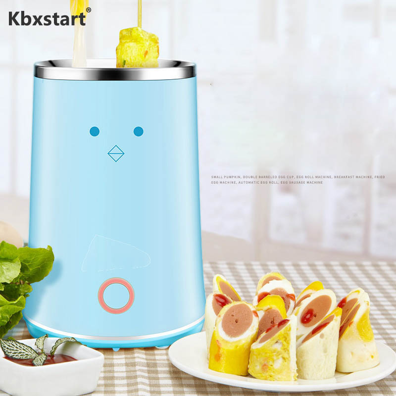 Kbxstart Automatic Multifunction Egg Roll Maker Double-tube Omelette Egg Boiler Master Sausage Machine Egg Cooker Non Stick