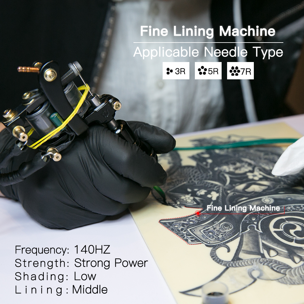Gratis Billige Tattoo Kit Komplett 2 Tatoveringsmaskiner 6 Farger USA - Tatovering og kroppskunst - Bilde 4