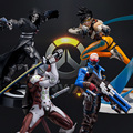 Tracer Widowmaker Reaper WINSTON SOLDIER:76 Action Figure Model kids Toys Gifts Collection Tracer PVC 25CM game figure Genji
