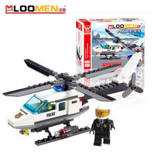 2016 New 102pcs/set DIY Building Blocks Toy Police Helicopter Action Figure Deformation Toys Children Educational Toy Kids Gifts