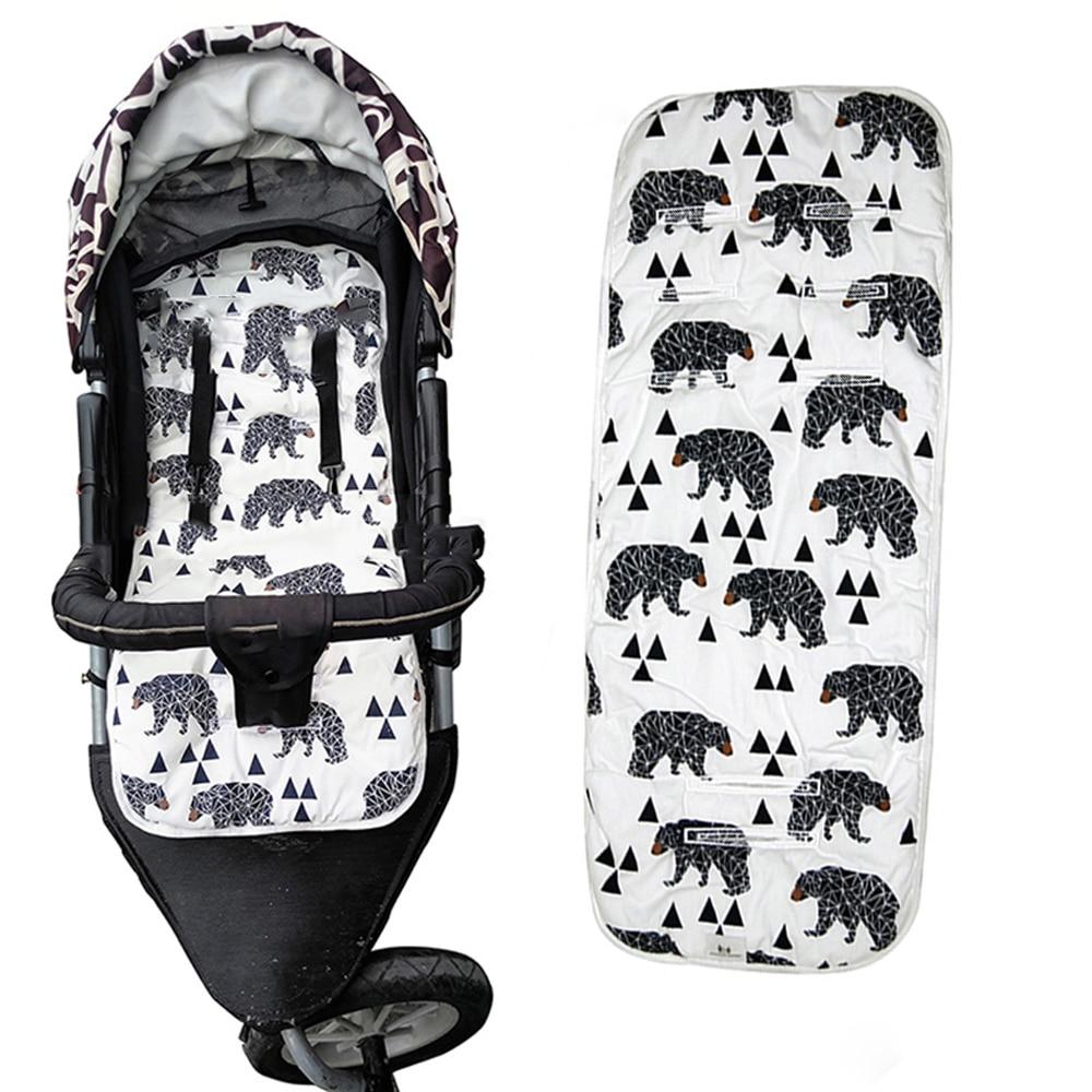 Baby Stroller Seat Cushion Diaper Pad Anti-Slip Cotton Pram Pad Universal Thicken Highchair Car Seat Liner Stroller Accessories