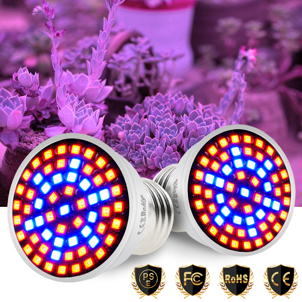 E27 220V Full Spectrum LED Grow Light E14 LED Plant Light GU10 Phyto Lamp MR16 Fitolamp B22 Indoor Growing Lamp For Plants GU5.3
