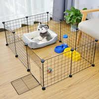 Livraison rapide pliable pour animaux de compagnie parc clôture pour animaux de compagnie chenil maison formation chiot chaton espace chiens fournitures lapins cochon d'inde Cage