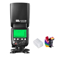 Pixel x800s Standard 2.4G Wireless Flash Speedlite TTL HSS GN60 LCD Screen for Sony A7 A77 RX1 RX10 Mi Shoe Cameras