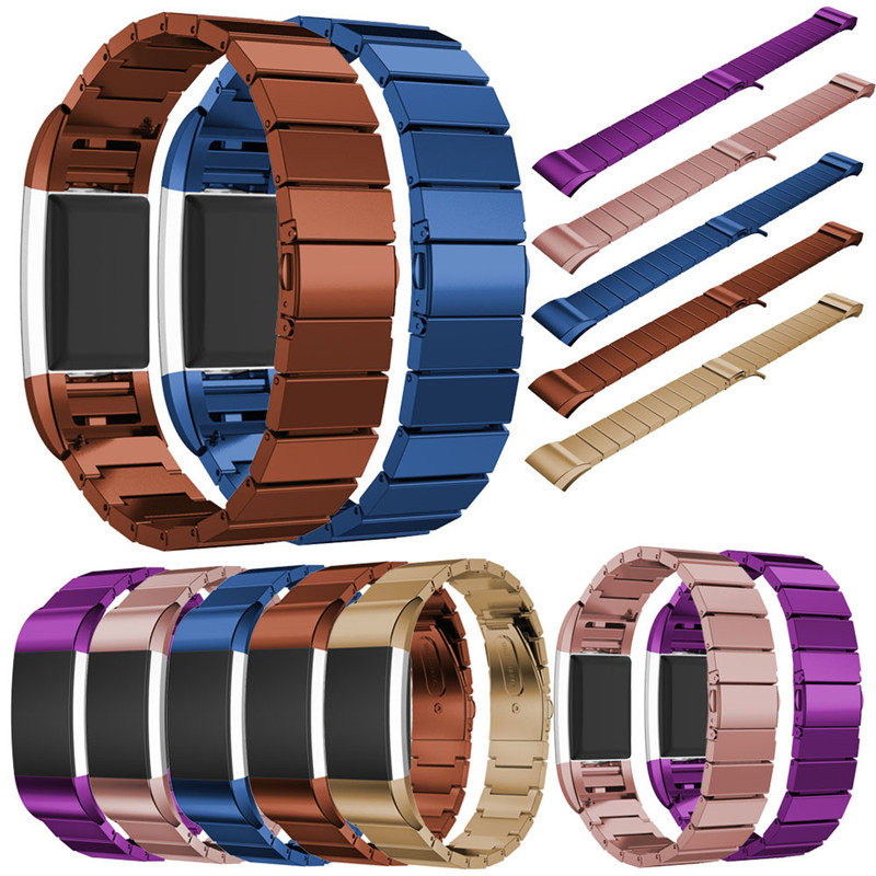 Newest High Quality Genuine Stainless Steel Bracelet Smart Watch Band Strap For Fitbit Charge 2 CLAUDIA Dropship december 08 stainless steel bracelet smart watch band strap for fitbit charge 2 supper deal