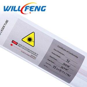 Image 3 - Sarà Feng 100W Co2 Tubo Del Laser di Lunghezza 1450 millimetri di Diametro 80 millimetri Lampada Laser Per Co2 Incisione Laser Cutter mahcine