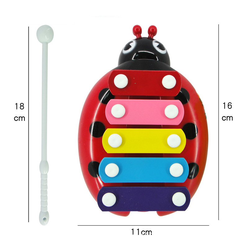 Children Musical Education Funny Toys Wisdom Keyboard Instrument Educational Baby Toys with 5 Key Type for  Boys Girls