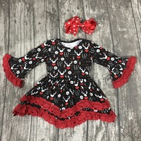 New Valentine S Day Spring Baby Girls Children Clothes Boutique Cotton Ruffles Long Sleeve Reindeer Love