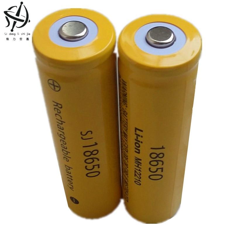 DING LI SHI JIA XH 4pcs 3 7V 18650 large capacity battery lithium Li ion
