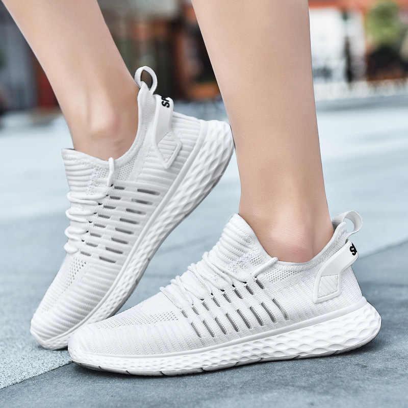 Reetene/2019 г. Новая легкая мужская обувь с сеткой летняя повседневная обувь Мужские дышащие прогулочные мужские кроссовки удобная обувь 39-47