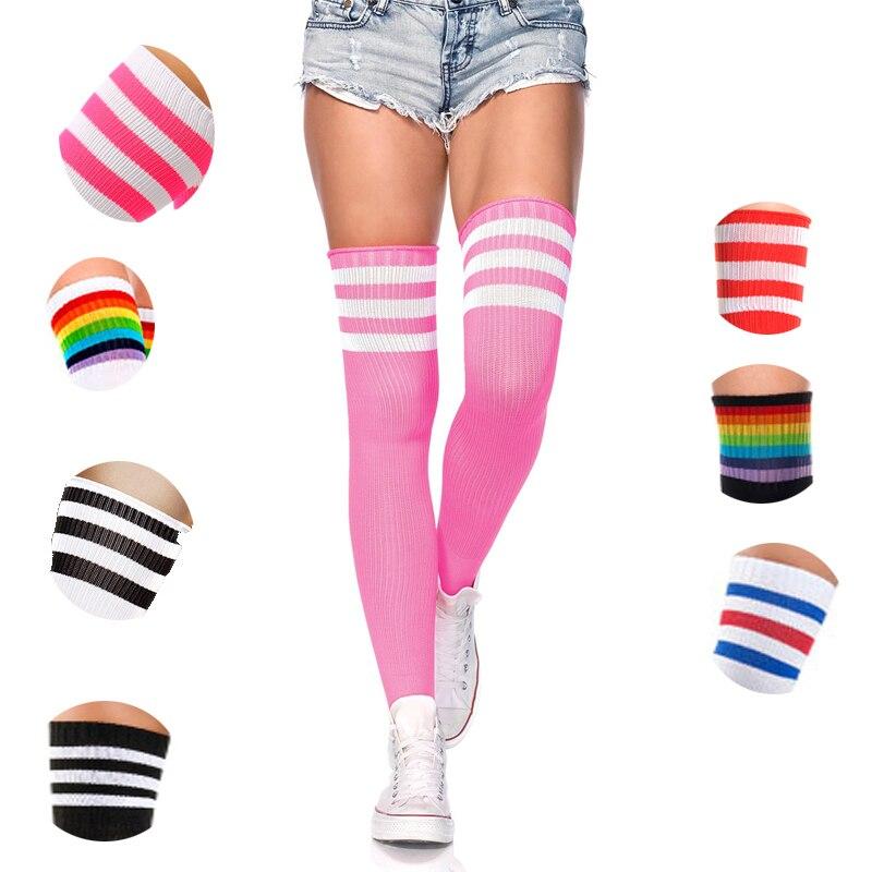 Sexy Women Socks Girl Thigh High Socks Cotton Stockings Student Japanese Stocking Over Knee Socks Harajuku Street Hiphop SW117c9