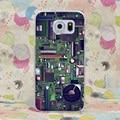 1112-gop motherboard caso capa dura para galaxy s2 s3 s4 s5 & mini s6 s7 borda mais