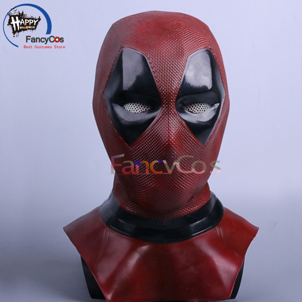 Deadpool 2 Wade Winston Wilson Mask Cosplay Helmet Halloween Latex Mask Props Gifts Mask High Quality