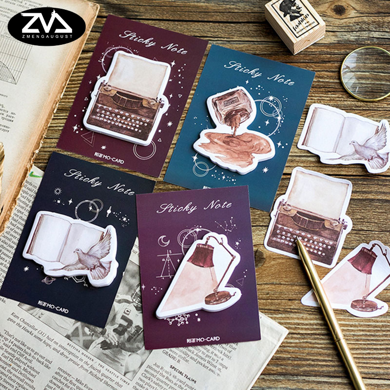 4X New Kawaii Creativity Memo pad Stickers Notes Portable message stickers Pad Sticky Cute Post DIY Office School Stationery