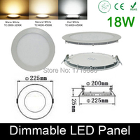 High Quality Dimmable 18W LED Panel Light Round LED Recessed Ceiling Painel Light Fixtures 4000K For