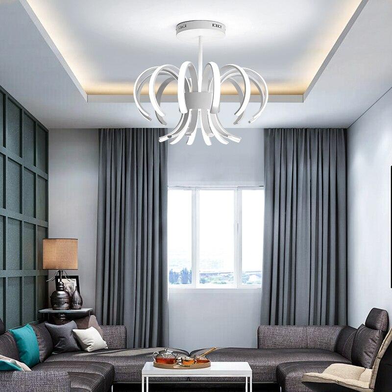 LED plafonniers modernes pour salon lampes luminaire télécommande nouveauté éclairage décoration de la maison quotidien en aluminium Dimmable