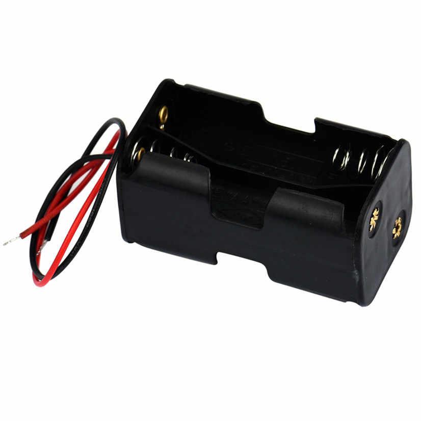 2-слот 4 х АА Батарея впритык держатель дело Коробка с проводами MOSUNX Futural Digital Прямая доставка F35