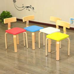 Детский сад спинка детский твердый деревянный детский стул изогнутая форма, деревянные украшения стул для малыша