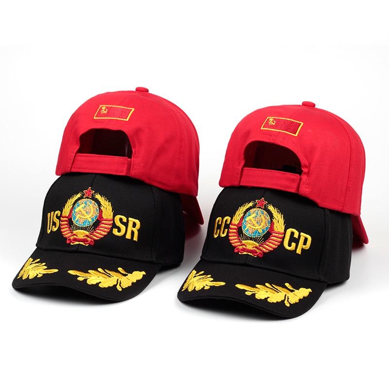 2018 Cccp Udssr Russische Stil Baseball Cap Unisex Schwarz Rot Baumwolle Hysterese Kappe Mit 3d Stickerei Beste Qualität Hüte Farben Sind AuffäLlig
