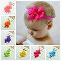 2016 nova moda da fita do cabelo bow flor Headband para o Bebê e o Cabelo coreano Acessórios Para o Cabelo elástico