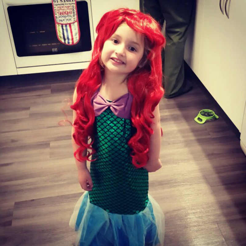 Милый Малыш маленькое платье с русалочкой для девочек платье принцессы наряд для костюмированной вечеринки детская одежда