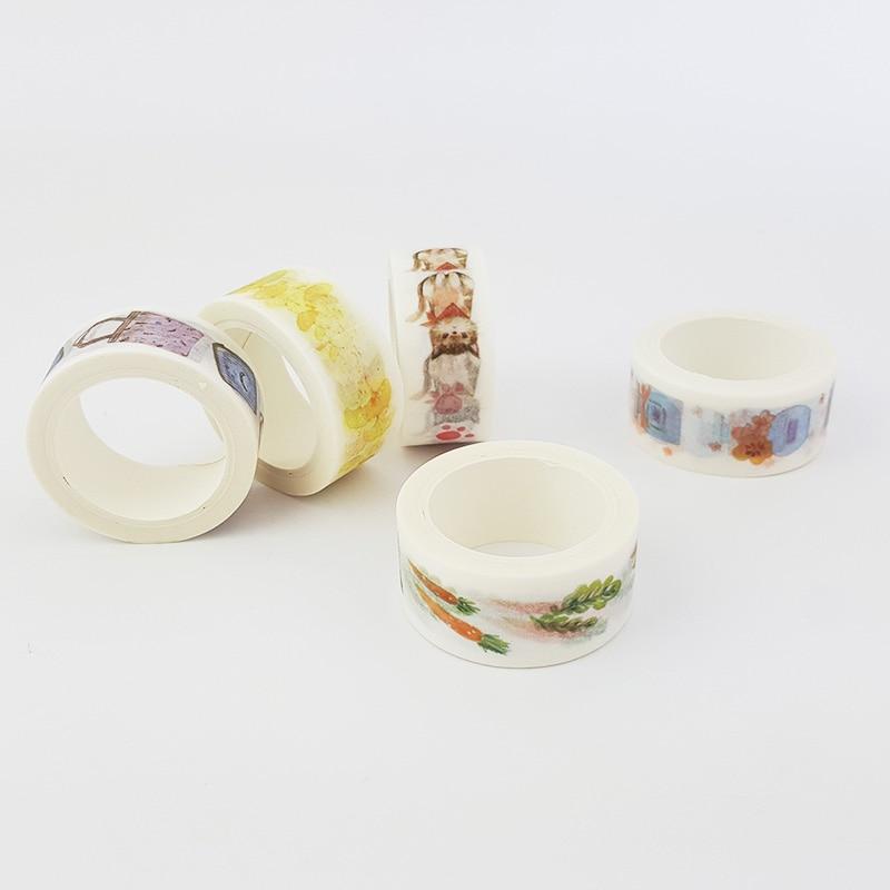 20mm*7m Kawaii Perfume Bottle Washi Tape Diy Decoration Scrapbooking Planner Masking Tape Adhesive Tape Label Sticker Stationery