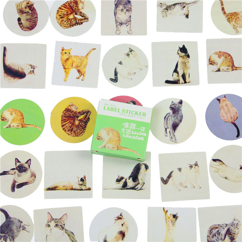 40 Pcs/box Cute Card Lover Mini Paper Sticker Set Decoration Diy Diary Scrapbooking Sealing Sticker Kawaii Stationery Memo Pad