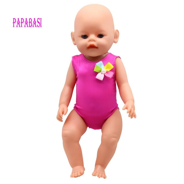 Rose Christmas gift 18 inch American Girl Doll swim Clothes dress also fit for 43cm Baby born zapf dolls