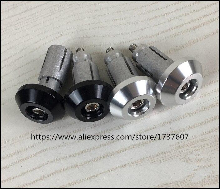 18mm Universal Motorcycle Aluminum Handlebar Grips Bar End Slider Plug Caps ha