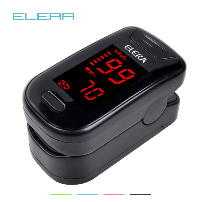 ELERA Digital Oximetro De Dedo With Case Pulse Oximeter Blood Saturometro Monitor SPO2 PR Oximetro De Pulso Pulsioximetrooximetro de dedooximetro de pulsooximetro digital de dedo -