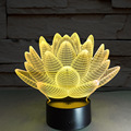 7 изменение цвета Сенсорный Лотос 3D красочные ночник странный стереоскопического визуальный обман лампы СВЕТОДИОДНЫЕ лампы Декор свет IY803339