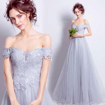 100 Real Image Vestidos De Festa Largos Elegantes Gray