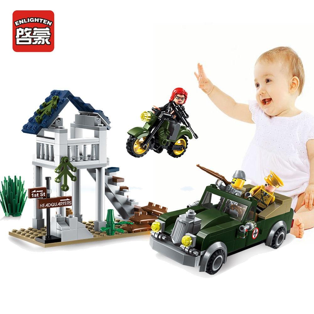 Enlighten Military Educational Building Blocks Toys For Children Gift Fun assembling granule blocks