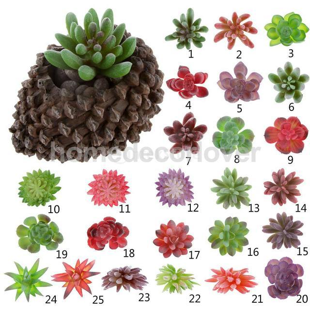 Искусственные Сочные Цветок Лотоса Трава Пластиковые Растения Главная Сад Балкон Декор