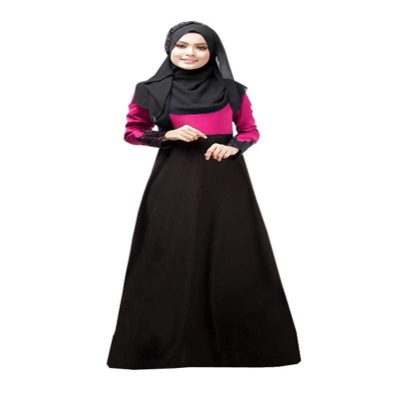 e69665d45db Vintage Long Sleeve Kaftan Abaya Jilbab Muslim Cocktail Women Maxi Dress M  L -in Dresses from Women s Clothing on Aliexpress.com