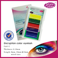 Encryption Color Eyelash 5 Colours mix Colourful Eyelash extension fake eyelashes Individual eyelash for stage makeup