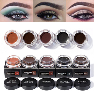 NEW 5 Colors Eyebrow Tint Makeup Waterproof Pomade Gel Long lasting 3D Natural Brown Eye Brow Enhancer Cream With Brush TSLM2