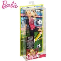 Original Barbie Doll For Girl Move Sports Skateboarder Martial Artist Soccer Player Girl Fashion Christmas Birthday