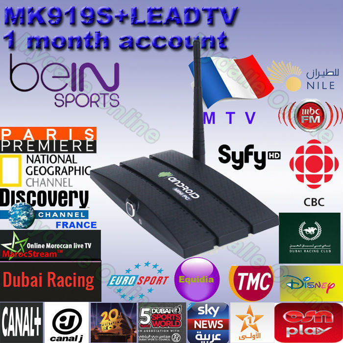 Best arabic IPTV box,MK919S android tv box,support MBC/SKY/Bein sports  better than loolbox,mag250,zaap tv with 2 0MP Camera