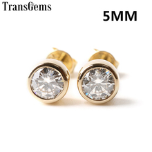 1Pair 1ctw Charles&Colvard Forever Classic Lab Grwon Moissanite Halo Earrings Genuine 18K Yellow Gold Push/Screw Back  Earrings genuine moissanite halo stud earrings for women 0 5ct vs h charles colvard gemstone 18k pure white gold fine jewelry au750 stamp