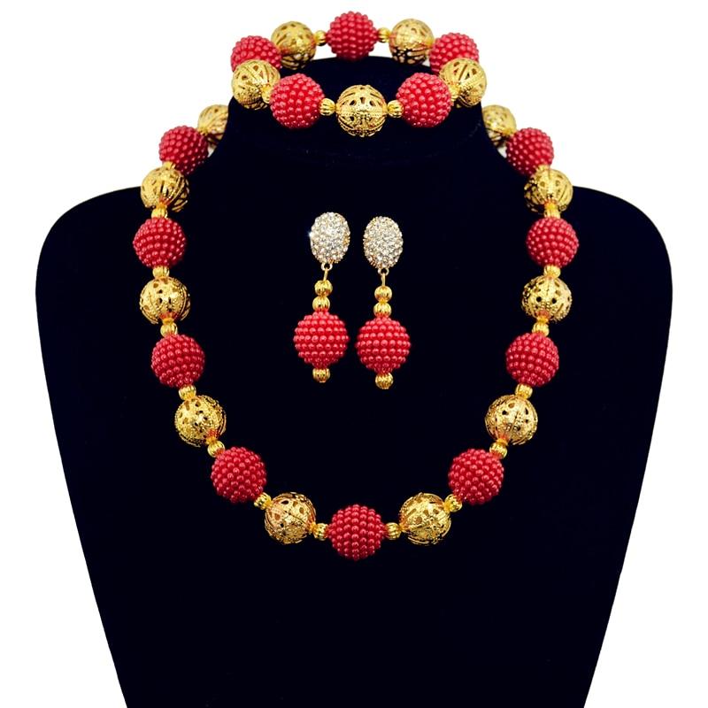 Red Charme Conjuntos De Jóias de Noiva para Mulheres Bracelete De Cristal  Brincos Longos para Casamento Africano Pérolas Conjunto de Jóias EH166 +  SL032 f82f73575e