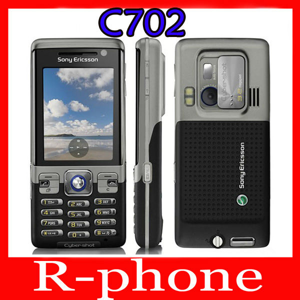 Original Refurbished Sony Ericsson C702 Mobile Cell Phone 3G GPS 3 15MP Unlocked One Year Warranty