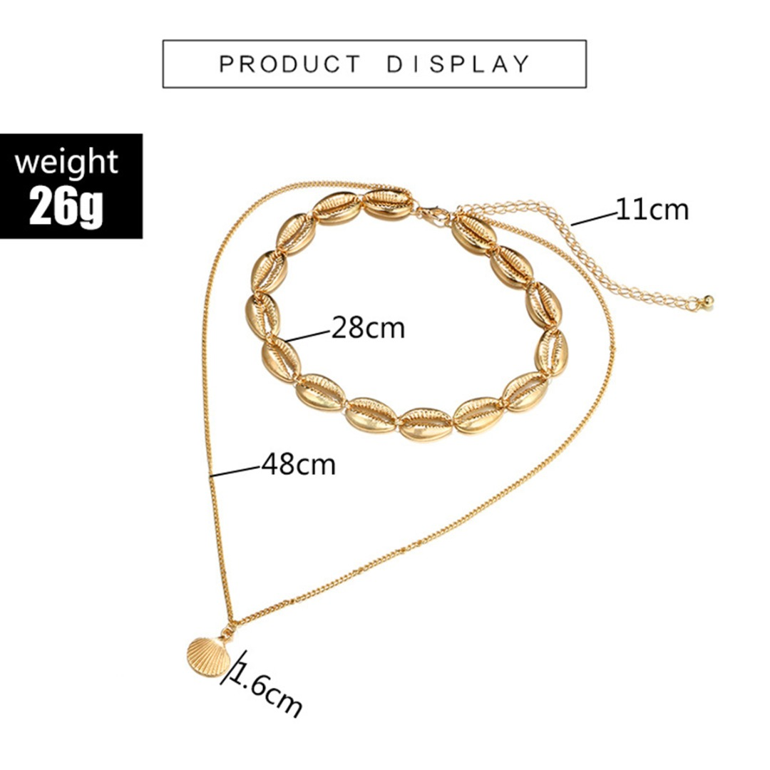 Sea Shell Choker Necklace For Women Gold Silver Color Summer