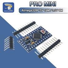 10 шт./лот Pro mini 328 3,3 В 8 МГц ATMEGA328 электронные строительные блоки ATMEGA328P 5 В/16 м для Arduino, совместимые Nano